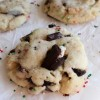 Trashed Up Peppermint Chocolate Chunk Cookies