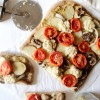 Mushroom, Potato, & Roasted Tomato White Pizza