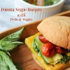 Polenta Veggie Burgers with Pesto & Veggies