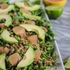 Grapefruit, Avocado, and Farro Arugula Salad