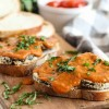 Crispy Baked Eggplant Sandwich with Roasted Tomato Sauce