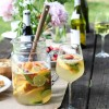 Summer Picnic + Grapefruit Peach Sangria