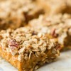 Vegan Pumpkin Oatmeal Streusel Bars