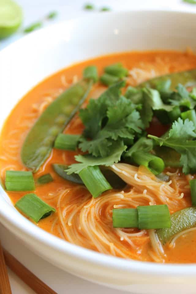 Spicy Thai Curry Noodle Soup Thai Red Curry Noodle Soup