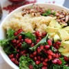Pomegranate Quinoa Kale Salad