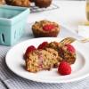 Raspberry Zucchini Gluten Free Muffins