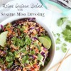 Asian Quinoa Salad with Sesame Miso Dressing