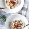 Farro Risotto with Sundried Tomatoes, Mushrooms, and Cashew Cream