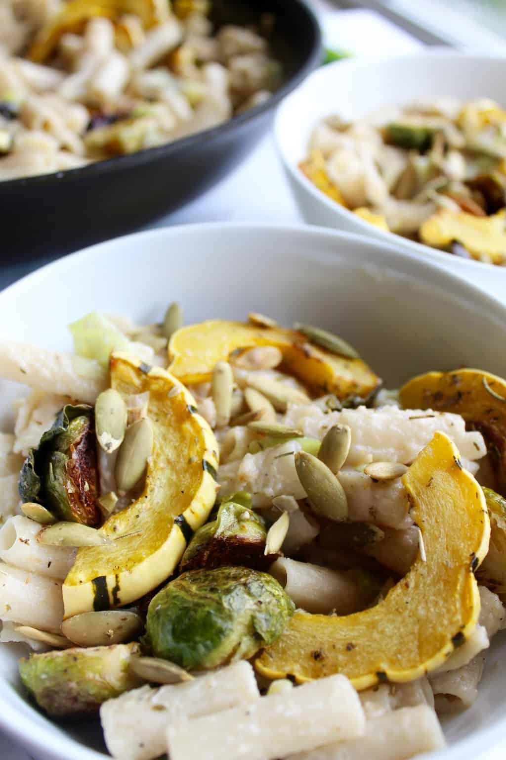 Creamy Garlic & Leek Autumn Pasta - pumpkinandpeanutbutter