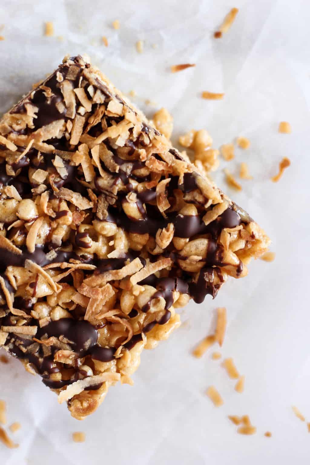 Dark Chocolate Coconut Rice Crispy Treats ...