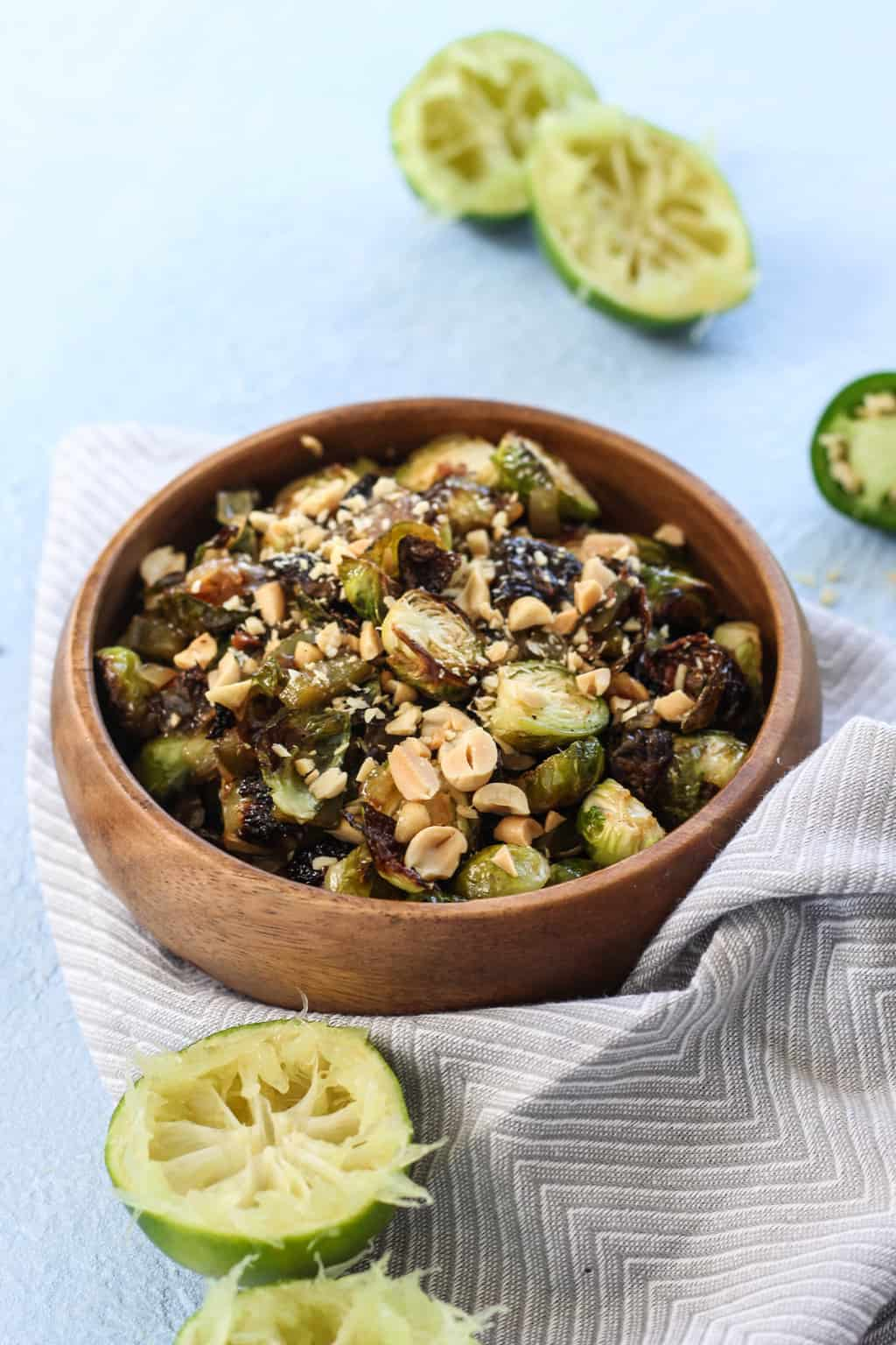 Chili Lime Crispy Brussels Sprouts | pumpkin & peanut butter